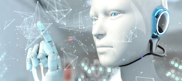 審査するAIロボット